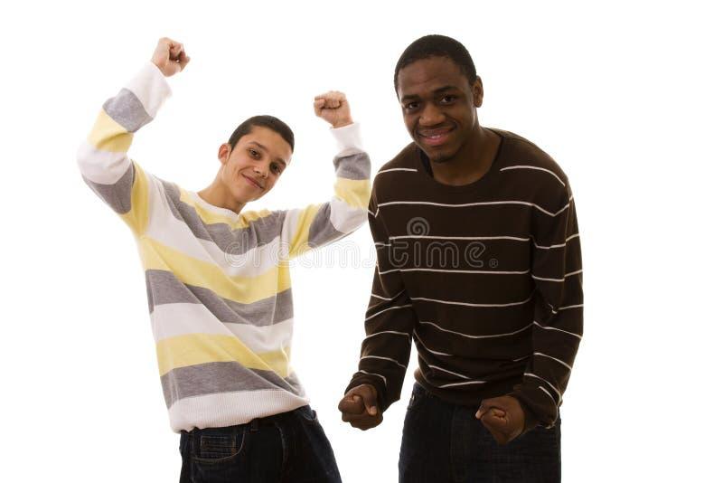 Multiraciale vrienden stock foto's