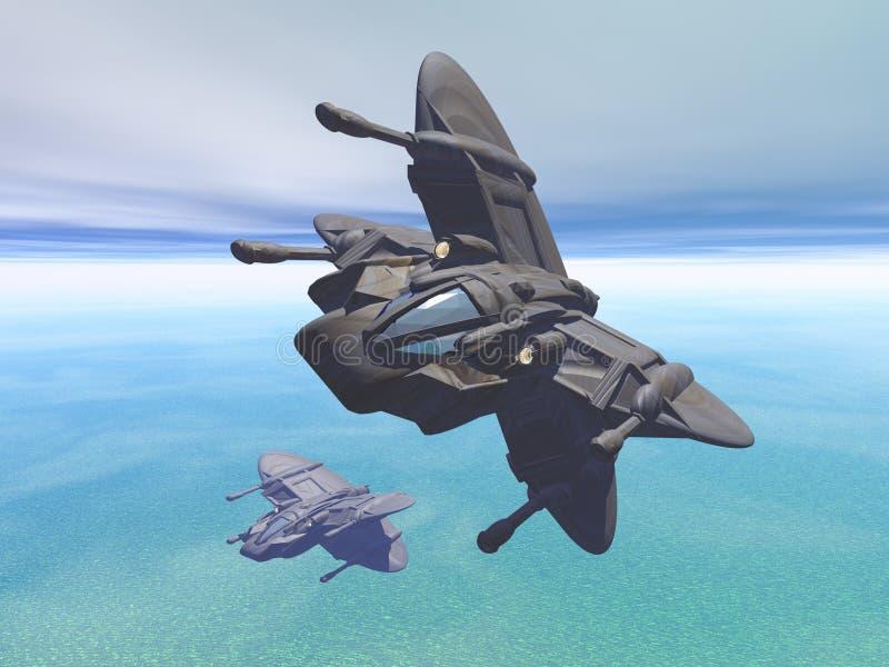 Multirole statek kosmiczny ilustracja wektor