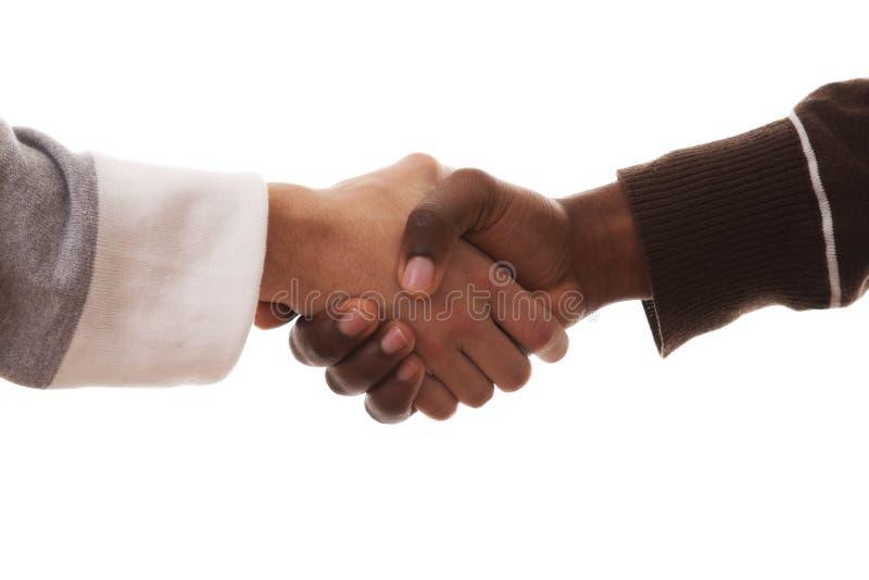 multirracial handskakning royaltyfri fotografi