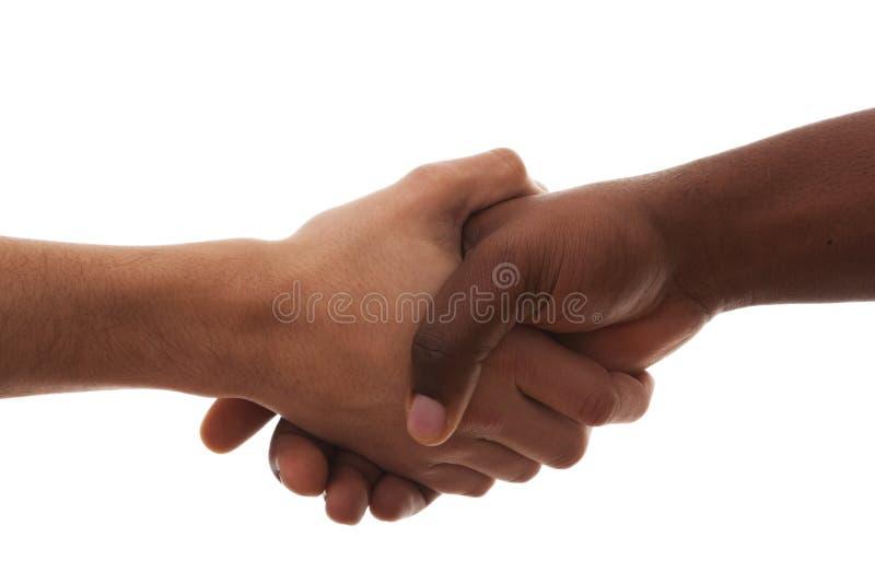 multirracial handskakning royaltyfri foto