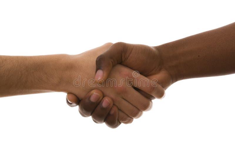multirracial handskakning royaltyfria foton