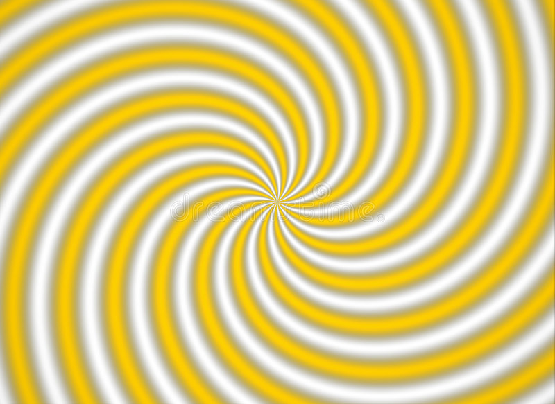 multispiral黄色 库存图片