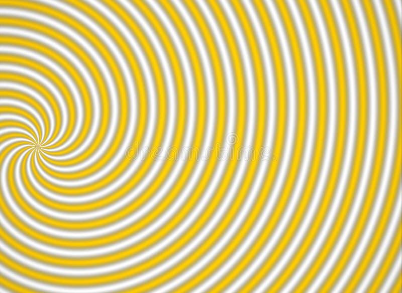 Multispiral giallo fotografia stock libera da diritti