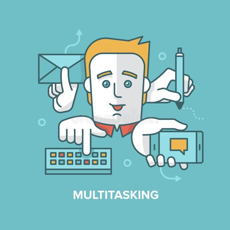 multitasking stock illustratie