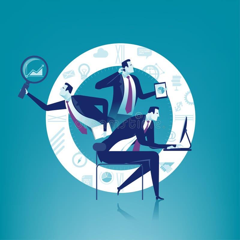 Multitasking vector illustration
