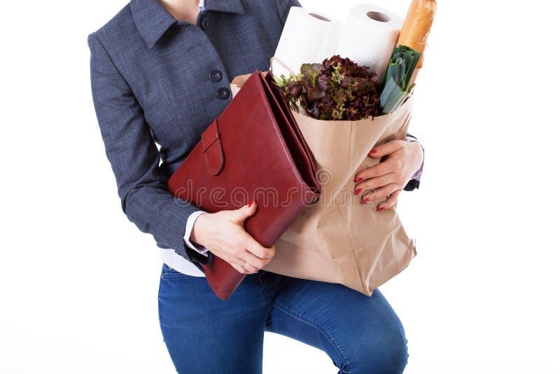 Multitasking kobieta fotografia stock
