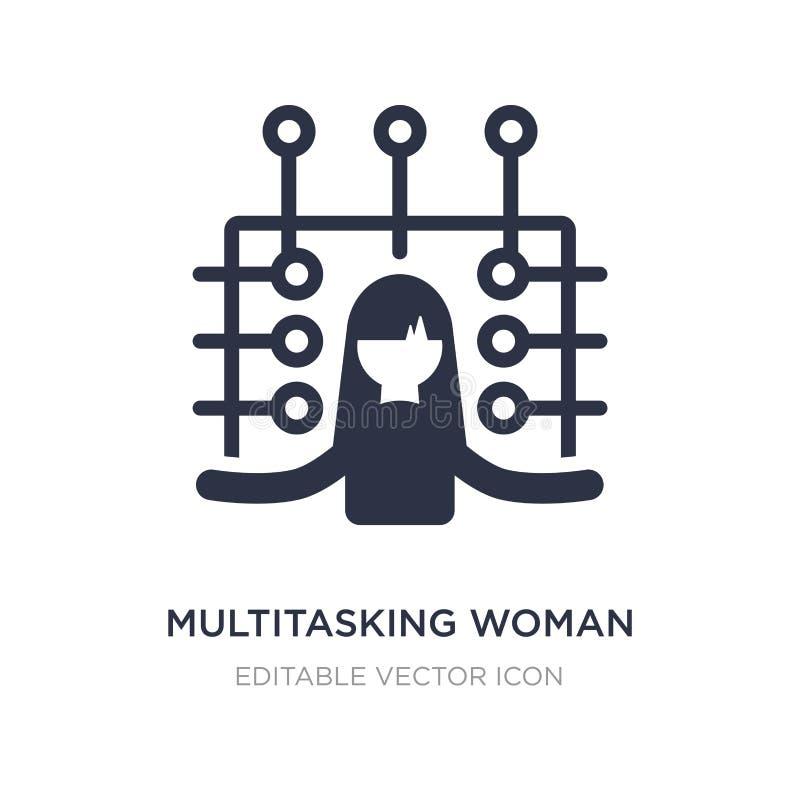 multitasking kvinnasymbol på vit bakgrund Enkel beståndsdelillustration från affärsidé royaltyfri illustrationer