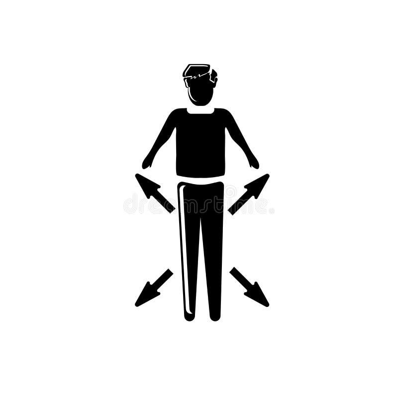 Multitasking mansymbolsvektor som isoleras på vit bakgrund, Multitasking mantecken, affärsillustrationer vektor illustrationer