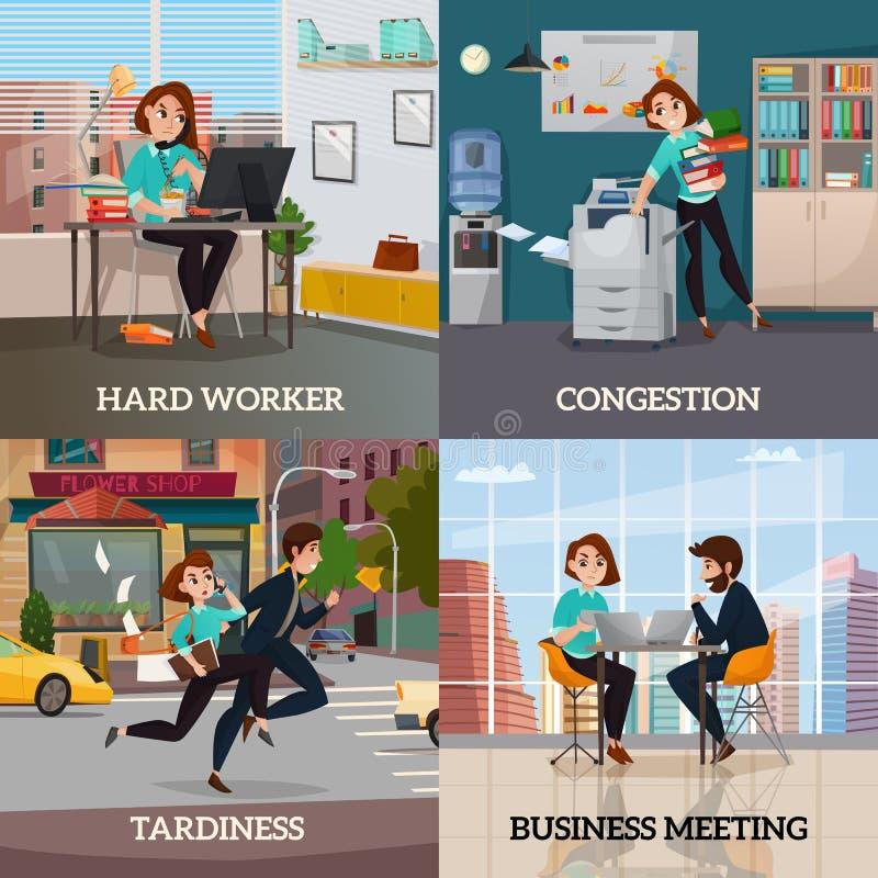 Multitasking 2x2 projekta pojęcie royalty ilustracja