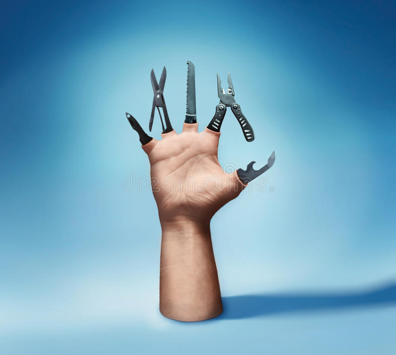 Free Multitool Hand Royalty Free Stock Photography - 52346437