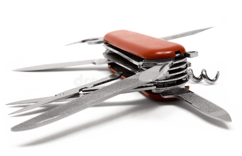 Multitool Penknife (Back-Side View) royalty free stock photos