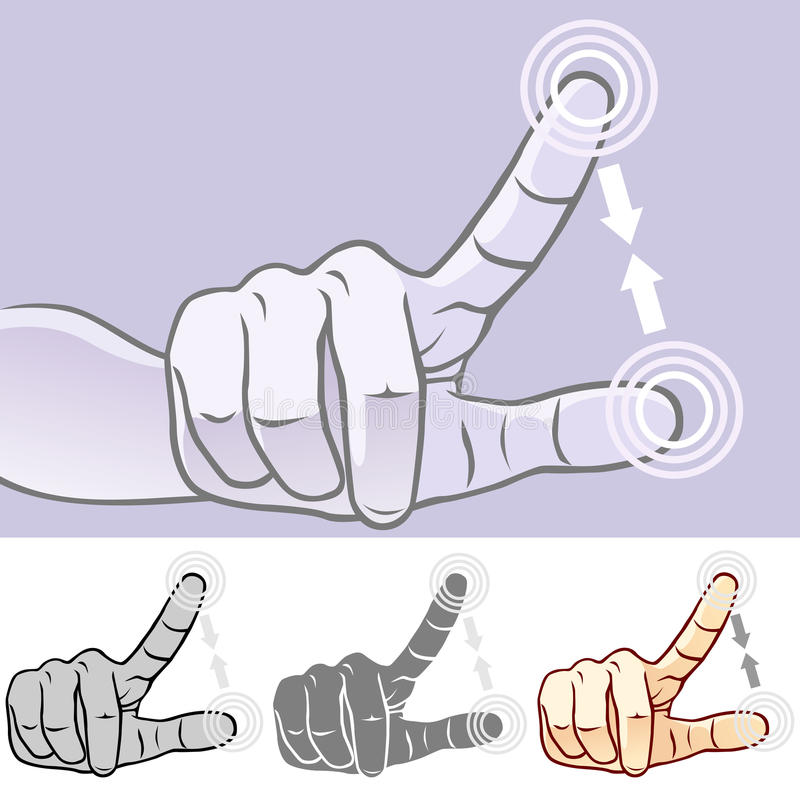 Download MultiTouch Hand Gestures For Smartphone, Tablet And Pad- Pinch Stock Vector - Image: 28374914