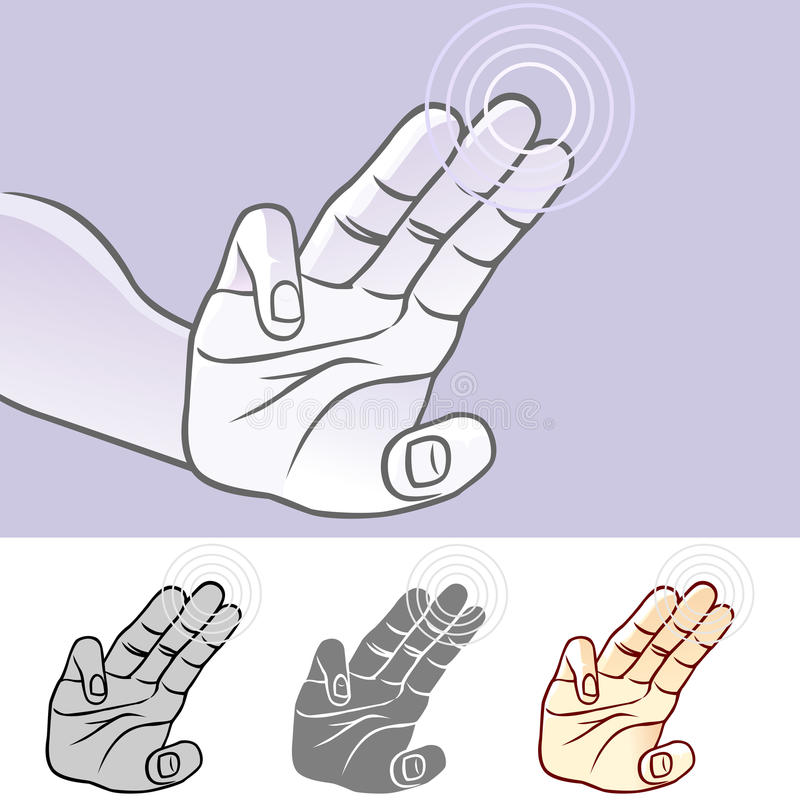 MultiTouch Hand Gestures For Smartphone, Tablet And Pad- Tap Stock Image