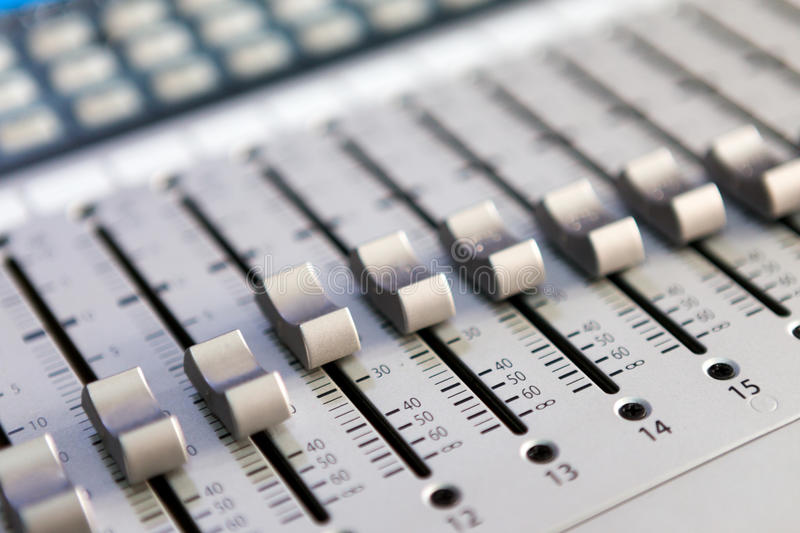 Multitrack Sound mixer royalty free stock photography