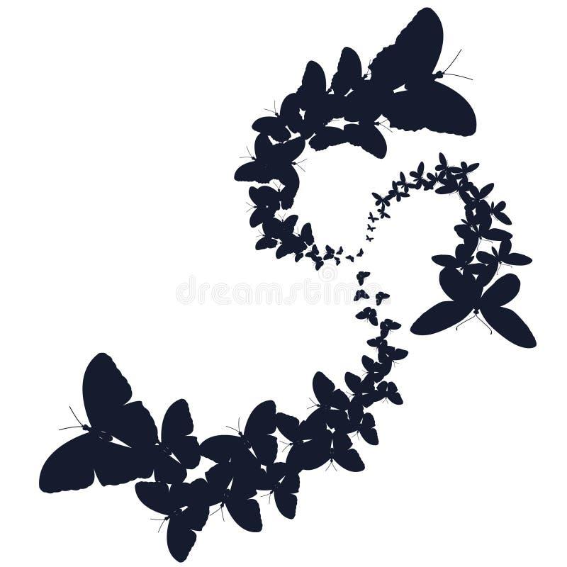 Multitudes de mariposas Ilustración del vector fotos de archivo