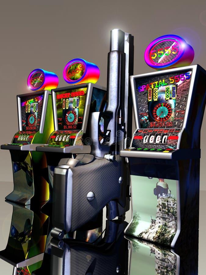 Multitudes del casino ilustración del vector
