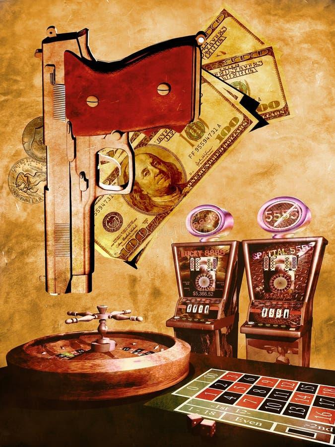 Multitudes del casino en grunge ilustración del vector