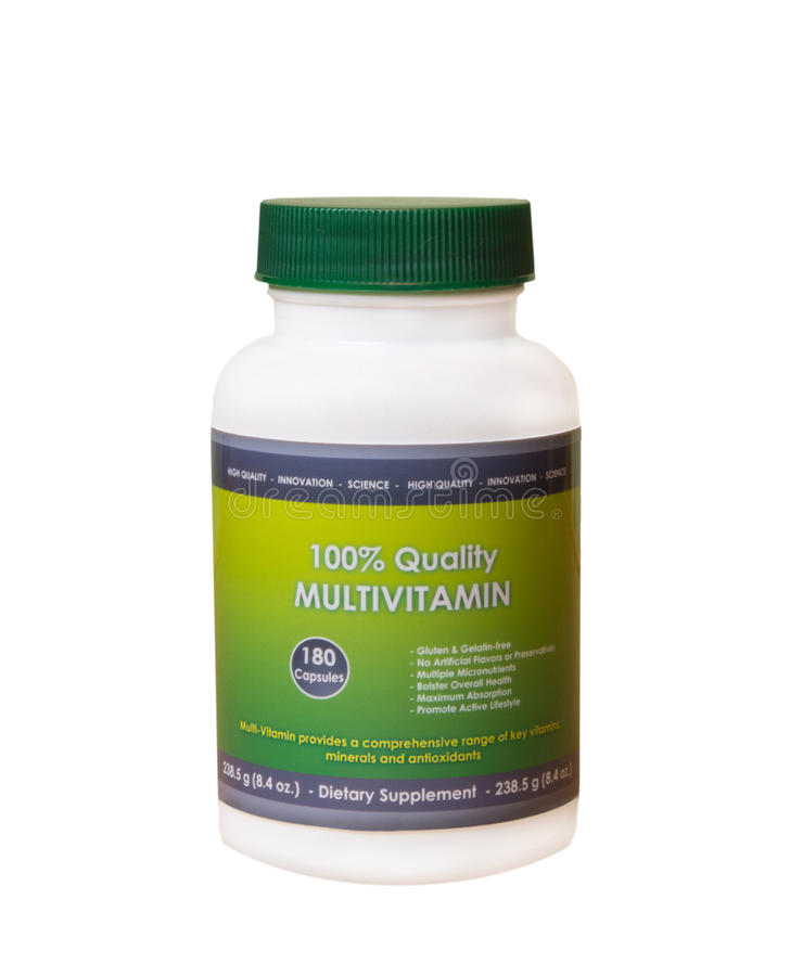 Free Multivitamin Bottle Royalty Free Stock Images - 31533119