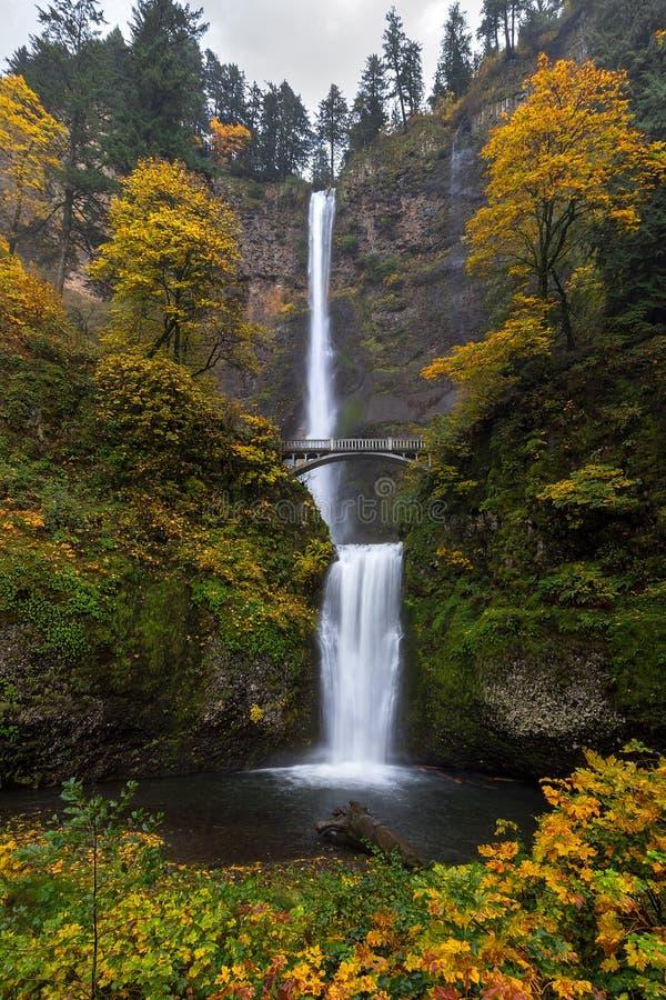 Multnomah cade in autunno fotografia stock