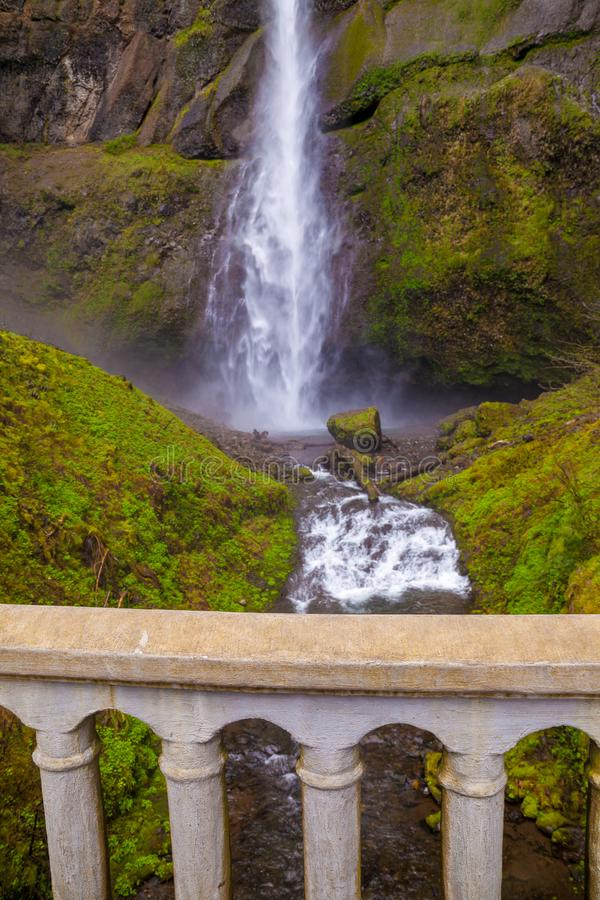 Multnomah Falls in the Columbia River Gorge, Oregon royalty free stock photography