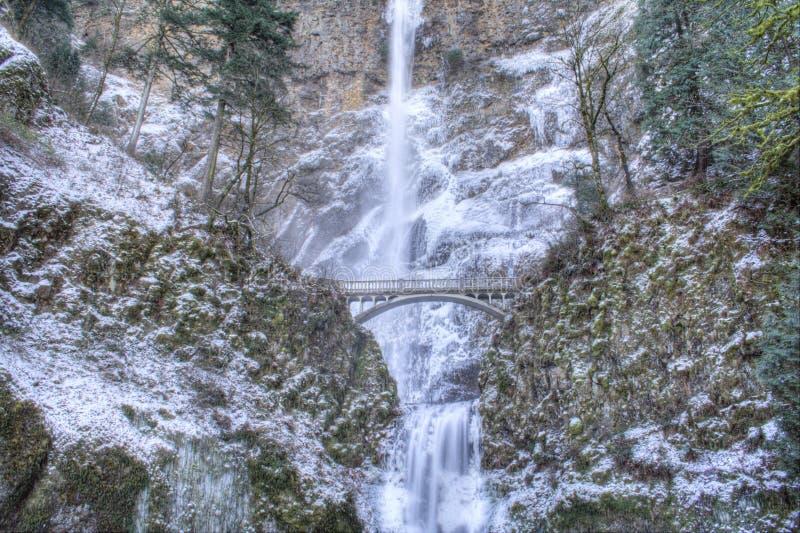 Multnomah Falls Frozen Stock Image - Image: 7576481