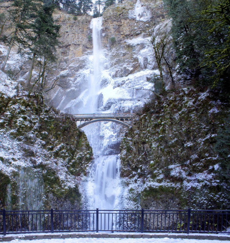 Multnomah Falls Panorama stock image