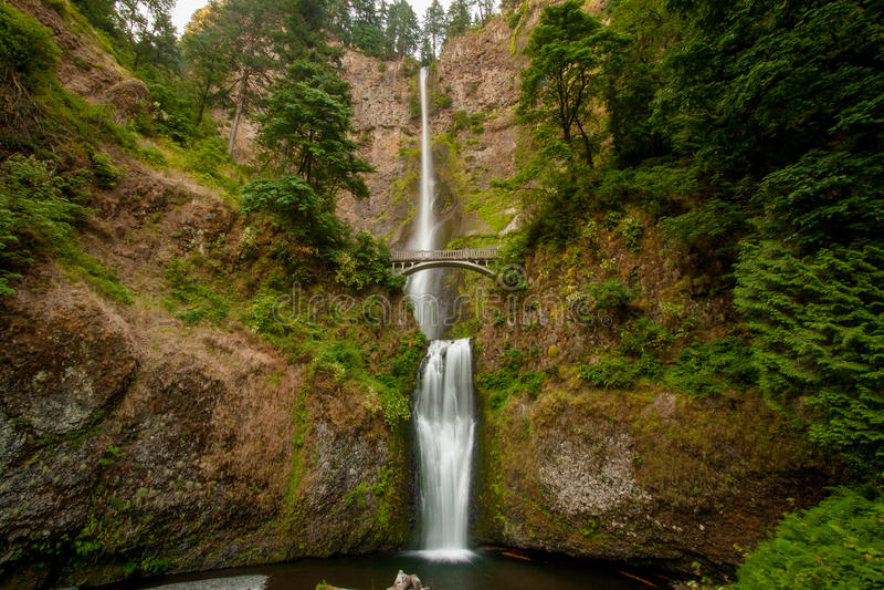 Multnomah Falls Waterfall stock image