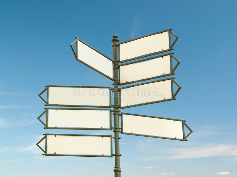 Multway signpost royalty free stock image