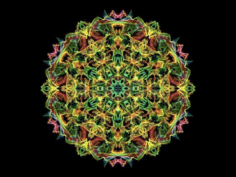 Multy a coloré la fleur de mandala de flamme d'abstarct, r floral ornemental illustration libre de droits