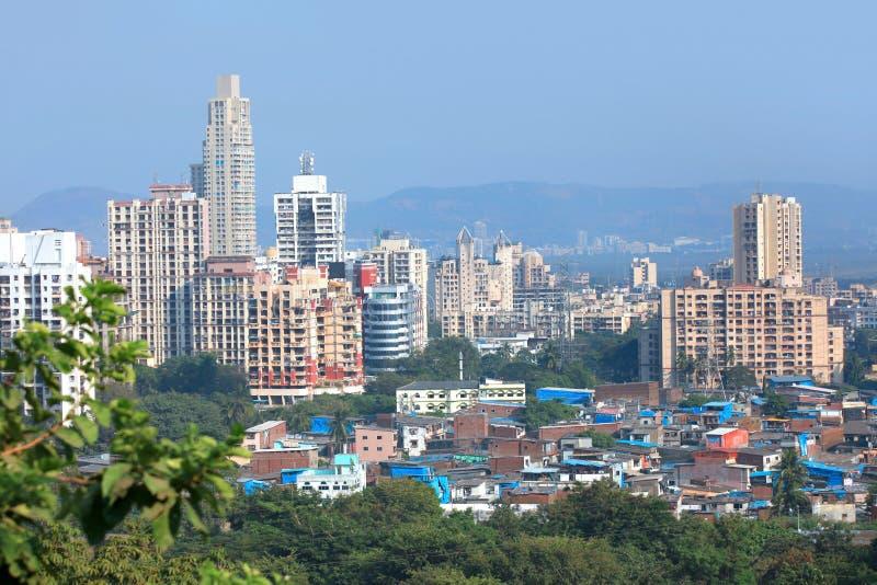 Mulund ad ovest, sobborgo di Mumbai fotografia stock libera da diritti