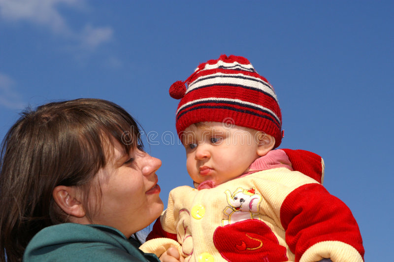 Mum With The Child Royalty Free Stock Photos