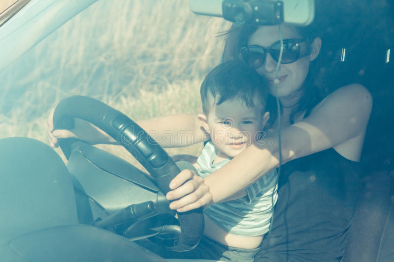 Download Mum with the child sit stock image. Image of machine - 42612331