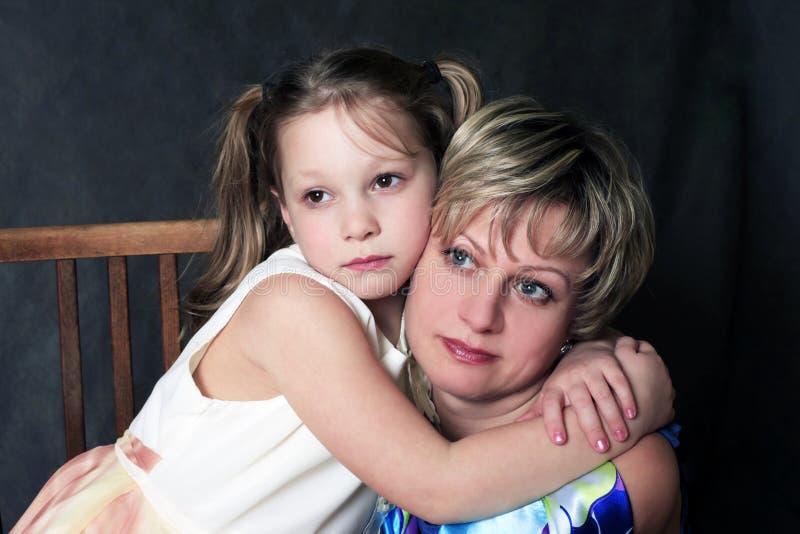 Mum com uma filha fotografia de stock royalty free