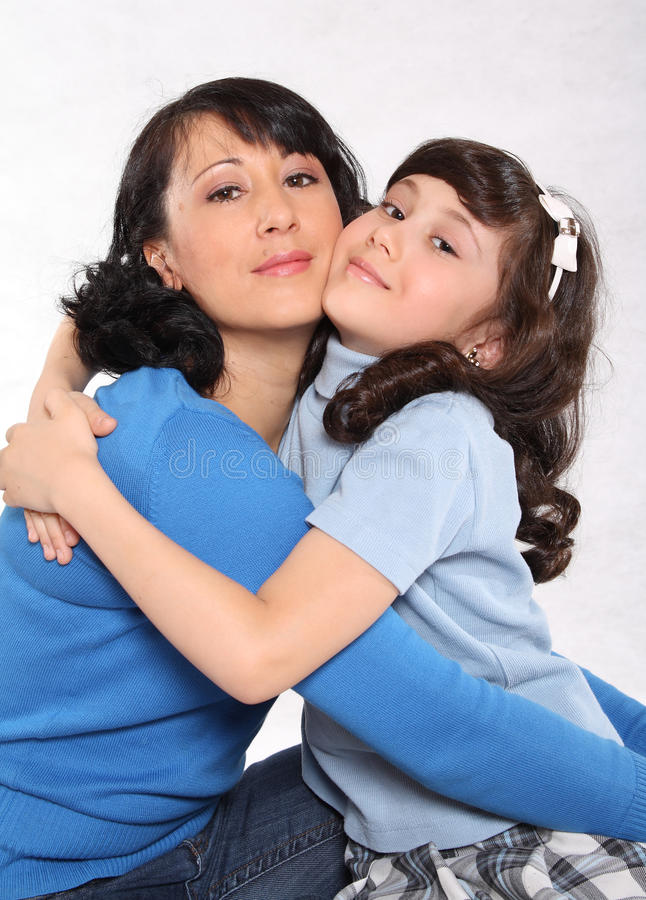 Download Mum and daughter stock image. Image of jumper, warm, embraces - 17164391