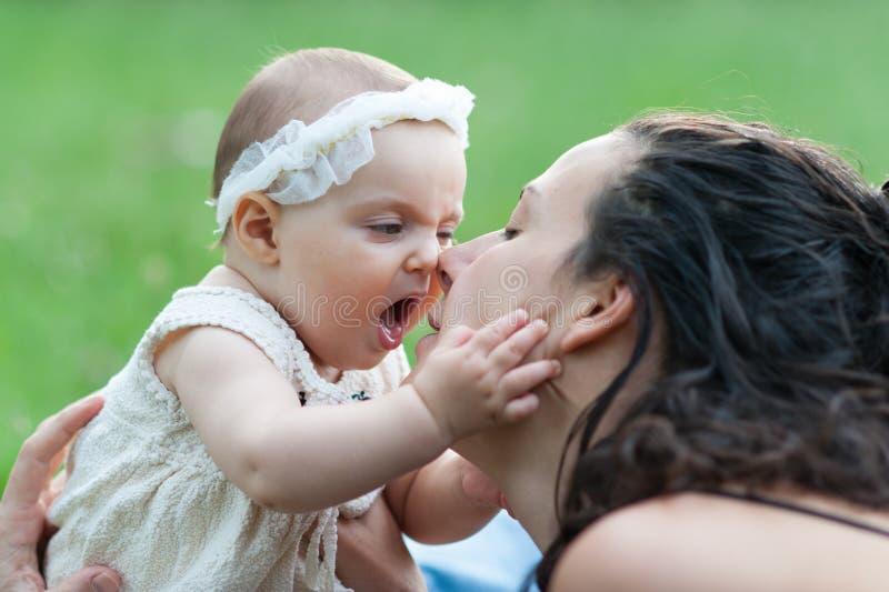 Mum e bebê imagens de stock