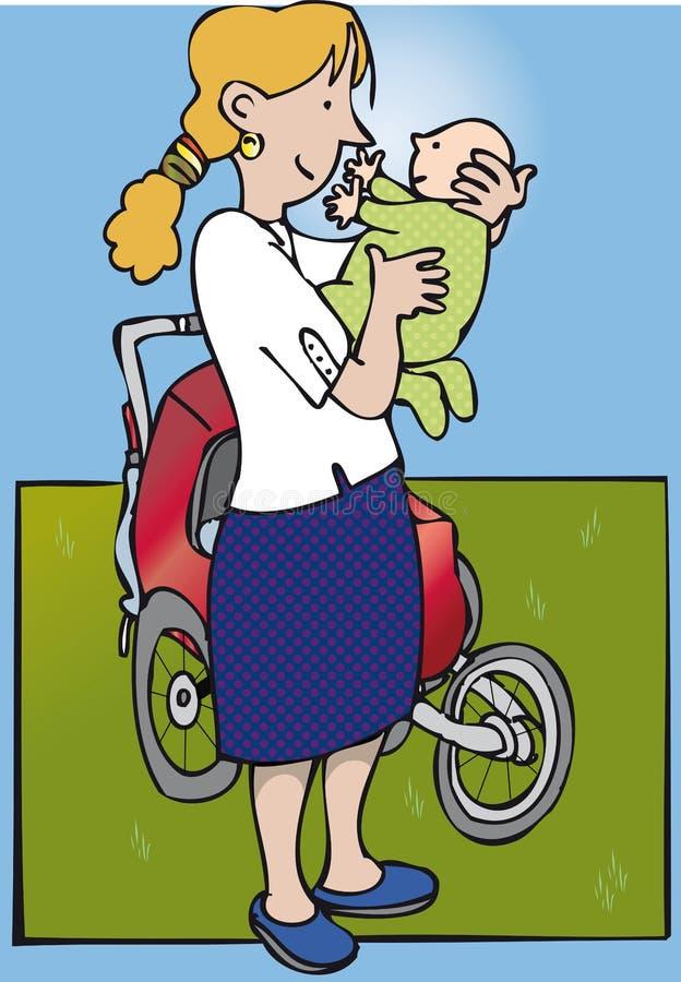 Mum en baby royalty-vrije illustratie