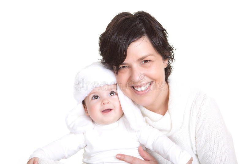 Mum feliz e criança pequena imagem de stock royalty free