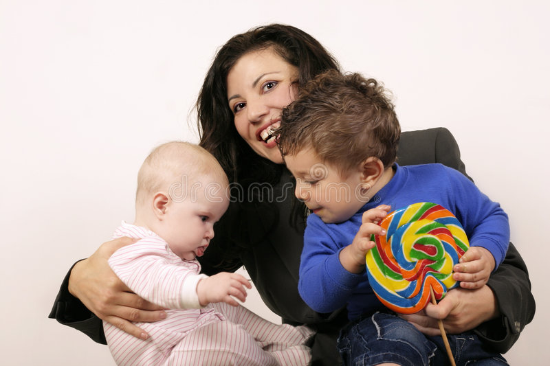 Download Mum and the kids stock image. Image of girl, parenthood - 194431