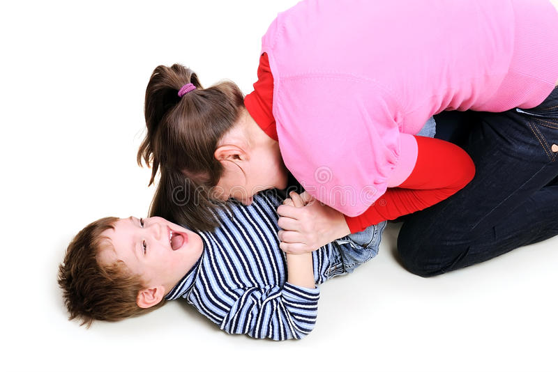 Mum Plays With The Small Son Royalty Free Stock Image