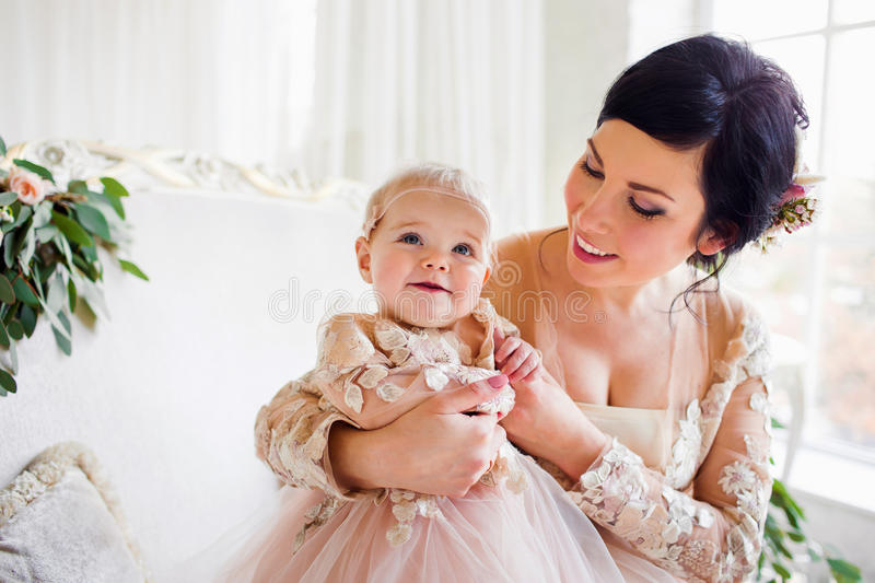 Mum with a small daughter royalty free stock images