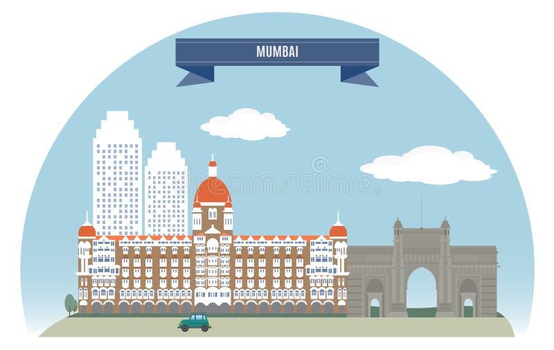 Mumbai stock illustratie