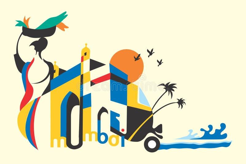 Mumbai illustration libre de droits