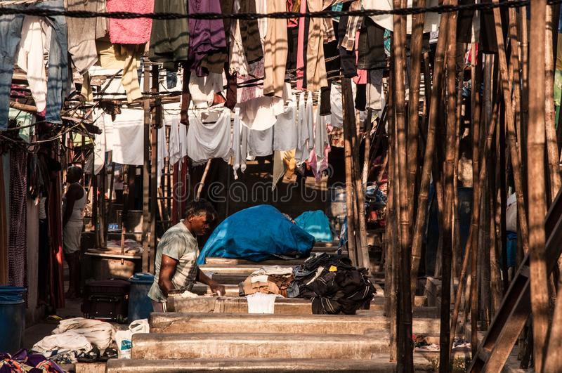 Mumbai arbete arkivfoton