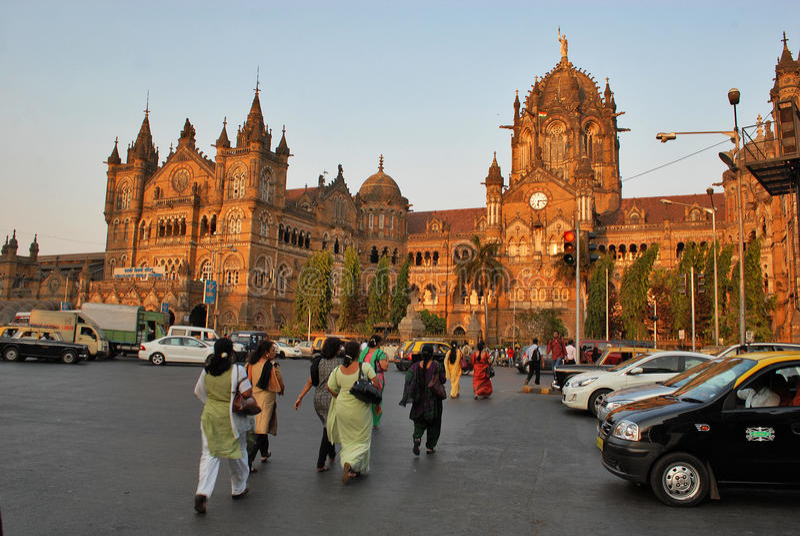 Mumbai befolkning royaltyfri foto