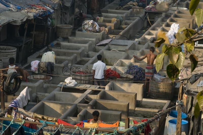 Mumbai (Bombay) Dhobi Ghats royalty free stock images