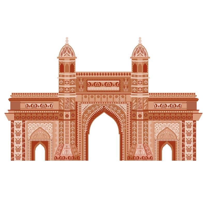 Mumbai, cancello dell'India royalty illustrazione gratis