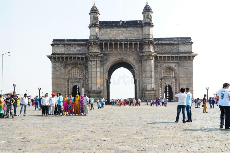 Mumbai, cancello dell'India fotografie stock libere da diritti