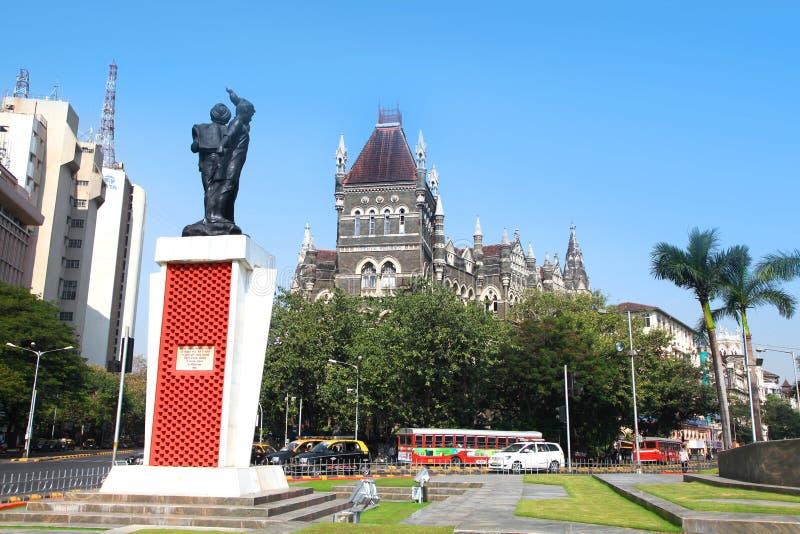 Mumbai city scape in India stock image