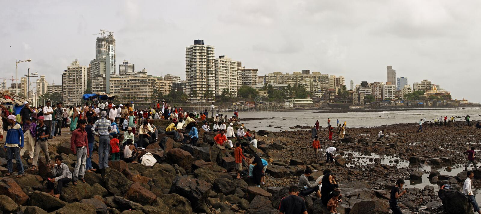 Download Mumbai coast editorial stock image. Image of city, arabian - 28072969