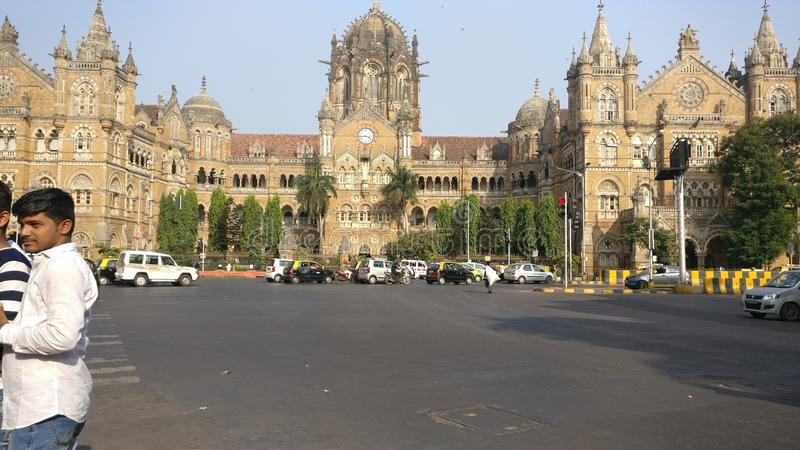 Mumbai CST. This photo is taken by Aatish. Chatrapati Shivaji Mumbai Terminal royalty free stock photo